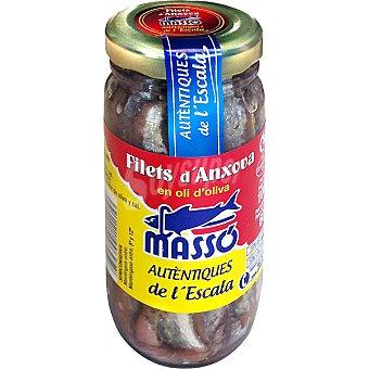 Massó Filetes de anchoa en aceite de oliva Tarro 60 g neto escurrido