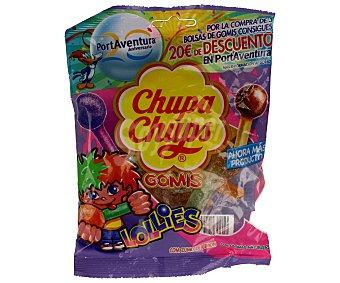 Chupa Chups Caramelos de goma con forma de caramelo con palo y con sabor a zumo de frutas 175g