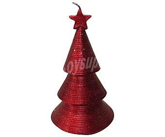 Actuel Vela decorativa de 14.5 centímetros, con forma de abeto de color rojo ACTUEL
