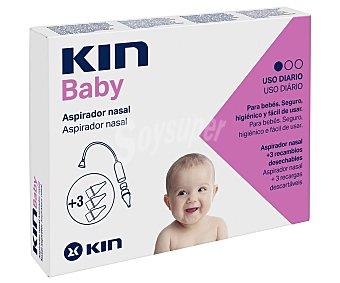Kin Apirador nasal de uso diario + 3 recambios desechables KIN