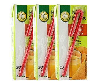 Productos Económicos Alcampo Néctar de naranja Brick de 20 centilitros pack de 3
