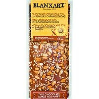 BLANXART Chocolate con leche con semillas 100 g