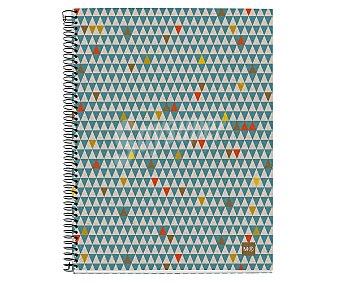 Miquel rius Cuaderno espiral de cartón reciclado A5 de 120 hojas cuadrícula, miquelrius.