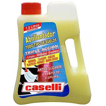 Caselli Abrillantador triple acción antideslizante para todo tipo de suelos botella 1,5 l limpia abrillanta y conserva Botella 1,5 l