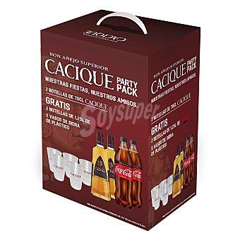 Cacique Pack party Ron Añejo superior 1 ud