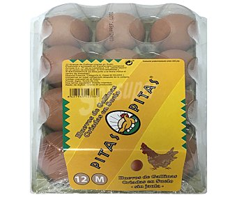 Pitas Huevos frescos de categoria A y clase M 12 uds