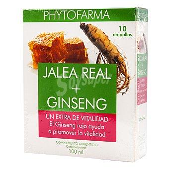 Phytofarma Jalea real con ginseng ampollas 100 ml