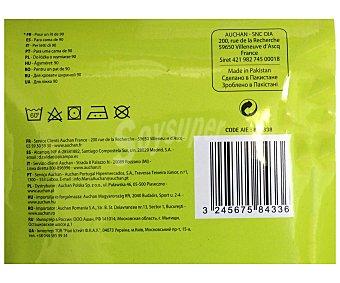 Productos Económicos Alcampo Sábana bajera color blanco, 170x90x30 centímetros 1 Unidad