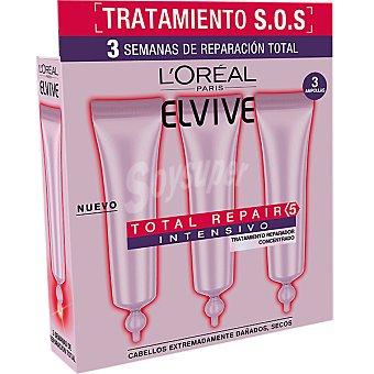 ELVIVE Total Repair 5 Intensivo Tratamiento reparador concentrado para cabello seco y dañado caja 3 ampollas