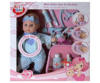 RIK & ROK Muñeco Bebé con Accesorios de Doctor 1 Unidad