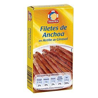 FINISTER Filetes de anchoa en aceite de girasol lata 30g neto escurrido