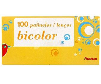 Auchan Pañuelos bicolor Paquete de 100 unidades