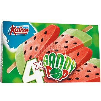 Kalise sandy pop helado con sabor sandía sin gluten estuche 320 ml 4 unidades