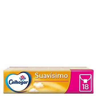 Colhogar Pañuelos blancos compact Pack 18 Paquetes