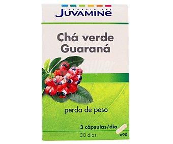 Juvamine Te Verde Con Guarana Acción Adelgazante 55 Unidades