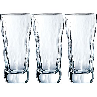 LUMINARC Icy Vasos de vidrio set de 3 unidades 47 cl