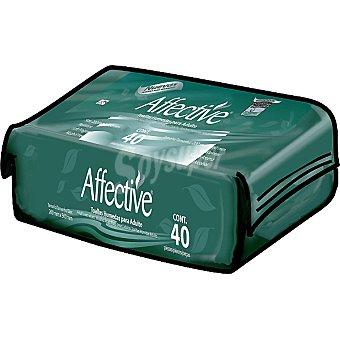 Affective Toallitas humedas para adulto Paquete 40 unidades