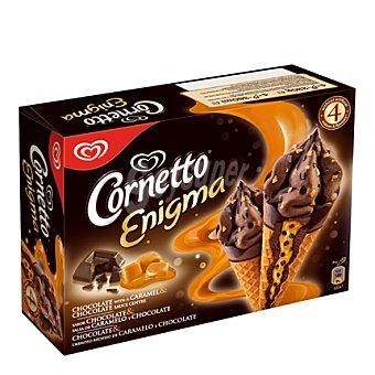 Frigo Cornetto Cornetto Enigma de chocolate-caramelo Pack 4x90 ml