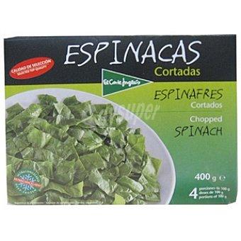 El Corte Inglés Espinacas cortadas Estuche 400 g
