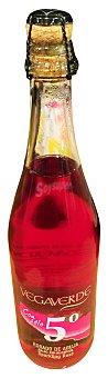 Vegaverde Vino rosado con gas 5 grados Botella de 75 cl