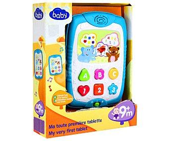 BABY Tablet de Aprendizaje con Letras, Números, Formas y Colores 1 Unidad