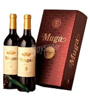 Muga Estuche vino tinto crianza D.O. Rioja Pack de 2x75 cl