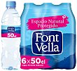 Agua mineral natural Pack 6 x 50 cl Font Vella