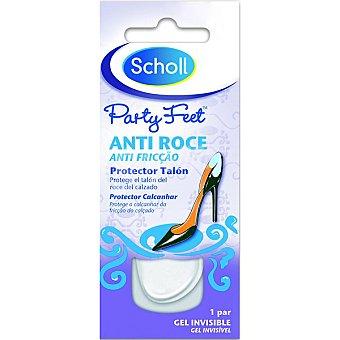 Scholl Anti-roce protege el talón del roce del calzado en gel invisible Paquete 2 unidades