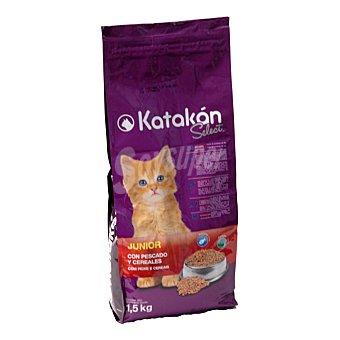 Katakán Pienso para gatos Junior de pescado y cereales Bolsa 1.5 kg