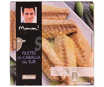 Mmm Auchan Filetes de caballa del sur en aceite de oliva auchan MMM lata 177 gramos