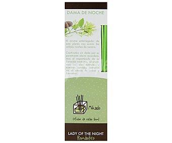 SENSSAE Difusor de varillas de bambu con perfume con olor a Dama de Noche. Este apreciado perfume equilibra y ayuda a ordenar nuestras emociones 50 mililitros
