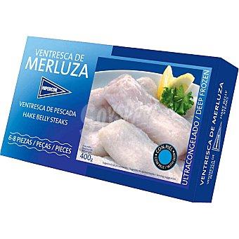 Hipercor ventresca de merluza estuche 400 g neto escurrido