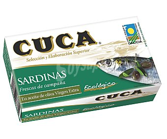 Cuca Sardinas aceite oliva virgen extra Ecológico Lata de 85 g