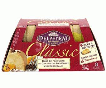 Delpeyrat Foie Gras Pato Bloc 30% Micuit + Regalo Lira 260 Gramos