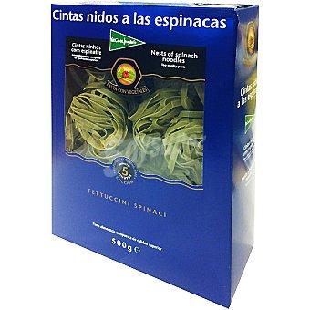 El Corte Inglés Pasta cintas nidos a las espinacas Envase 500 g