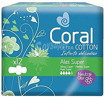Coral Compresas con Alas Súper 12 ud