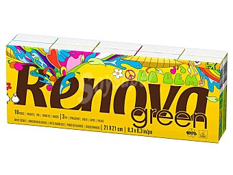 RENOVA GREEN Do Bem pañuelos ecologicos paquete 10 unidades Paquete 10 unidades