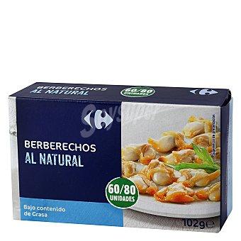 Carrefour Berberechos al natural 60/80 58 g