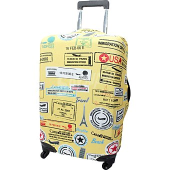Oralli Funda para maleta mediana en amarillo