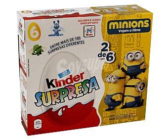 Kinder Huevo sorpresa Pack 6x20 gr