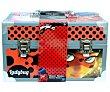 Maletin metálico de con 16x32x18 centímetros, LADY BUG. Ladybug