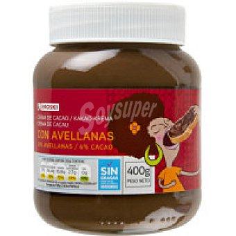 Eroski Crema de cacao 2 sabores Bote 400 g