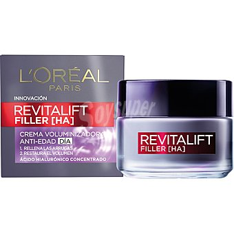 L'Oréal Crema voluminizadora anti-edad día con ácido hialurónico concentrado Revitalift Filler tarro de 50 ml