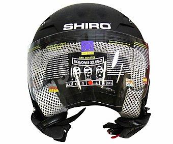 SHIRO Casco de moto homologado, modelo Sh-Air-40 en color negro 1 Unidad