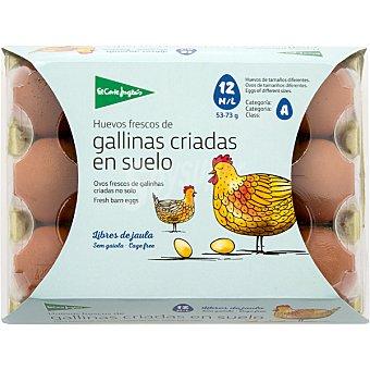 El Corte Inglés Huevos frescos de gallinas criadas en suelo clase M-L categoria A estuche 12 unidades estuche 12 unidades
