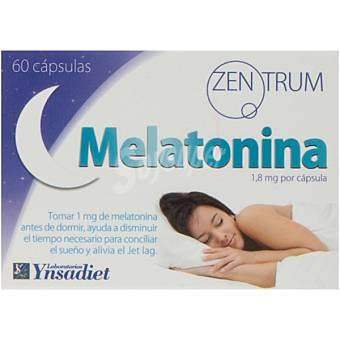 YNSADIET Melatonina Puré + favorece el sueño y el descanso Frasco 60 capsulas