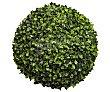 Bola de boj decorativo con flores artificiales hechas a base de plástico, color verde, 40 cm  Essencial