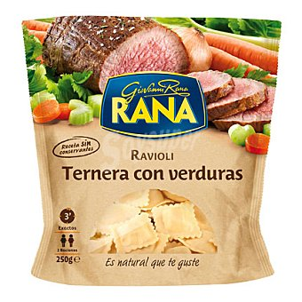 Rana Ravioli ternera con veduras 250 g
