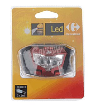Carrefour Linterna frontal 3 led