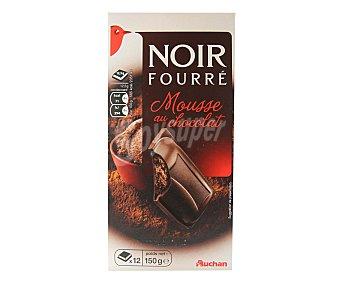 Auchan Chocolate negro relleno de mousse de chocolate 160 gramos